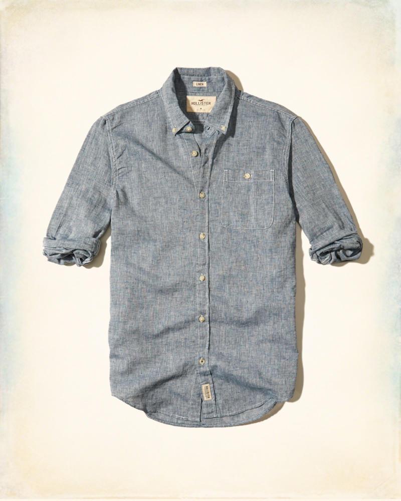 23bd6c4a9f Hollister Camisa Texturizada Color Mezclila Originales -   750.00 en ...