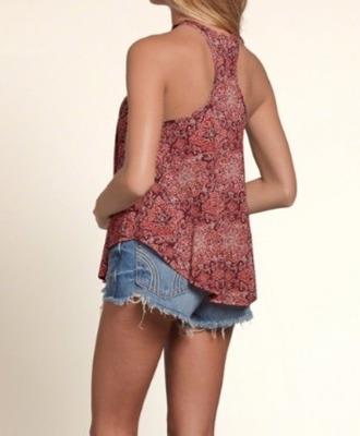 hollister fashion top aplicaciones swing mujer talla small