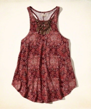 hollister fashion top aplicaciones swing mujer talla small