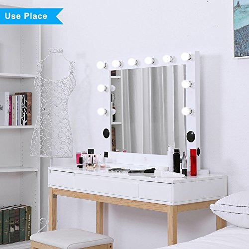 hollywood lighted makeup vanity mirror light, makeup dressin