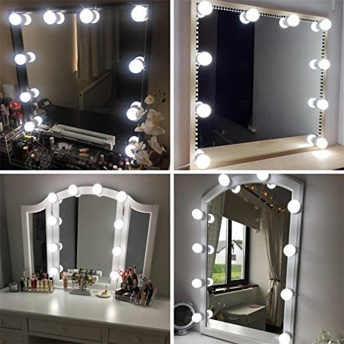 Hollywood style led vanity makeup mirror lights kit with 10 hollywood style led vanity makeup mirror lights kit with 10 aloadofball Choice Image
