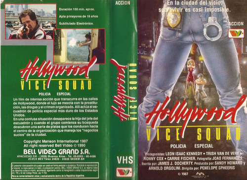 hollywood vice squad vhs 1987 accion policial