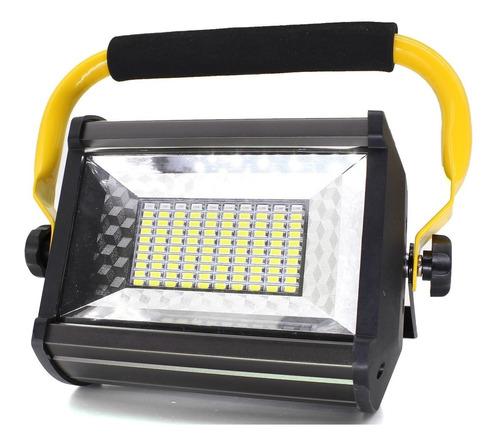 holofote luminária recarregável led 100w resistente água