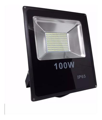 holofote refletor led 100w smd bivolt prova d'água jardim