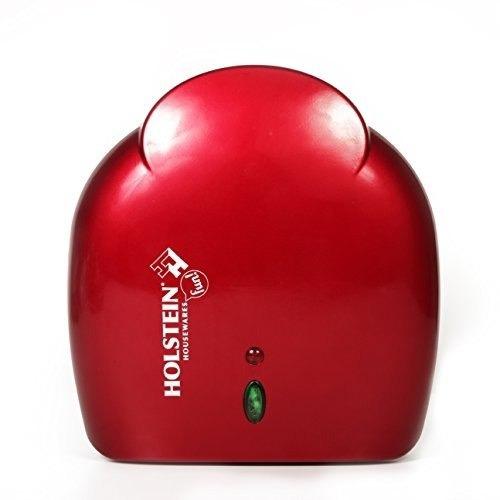 holstein housewares hu-09005r-m arepa maker - rojo metaliza