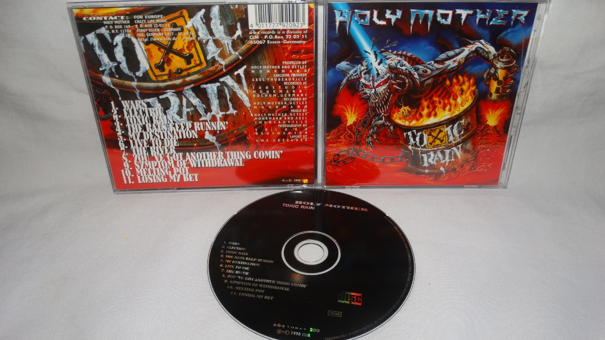 Holy Mother - Toxic Rain (a b s  Records '98) - $ 9 900