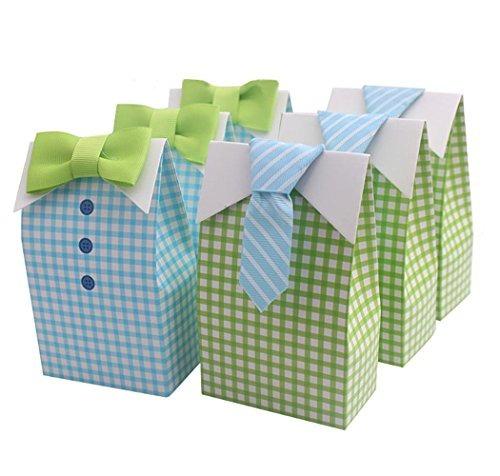 homanda 50pcs arco tie estilo partido favorecer regalo caja