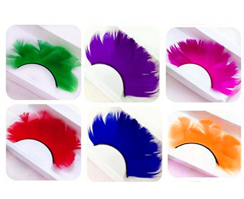 homanda solid color 6 pairs deluxe party stage feather fa