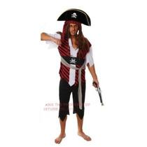 Piratas Del Caribe Disfraz - Adulto Pirata Hombre Std
