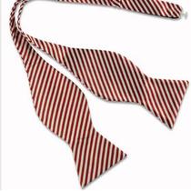 Humita Papillon Blanca Lineas Roja, Para Traje,camisa,formal