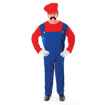 Super Mario Disfraces - Plomeros Rojas De Mate 80s Del Vesti