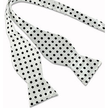 Humita Papillon Blanca Puntos Negro Para Traje,camisa,formal