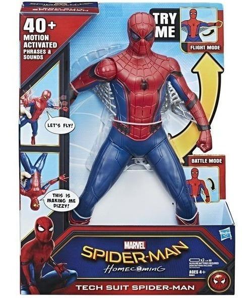 Hombre Araña Spider Man Frases Y Sonido 38cm