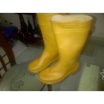 Oferta, Botas Plasticas Pvc Amarillas Caña Larga , 39-40-42