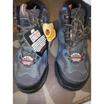Excelentes Botas Skechers De Seguridad Talla 36 Color Azul