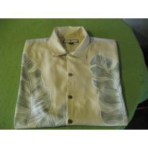 Camisa Guayabera Hawaiana De Seda Tommy Bahama Talla L