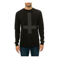 Black Scale Mens Los Secretos Y Mentiras Ls Camiseta Estampa