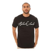Black Scale Mens La Firma De Logotipos Gráficos De La Camis