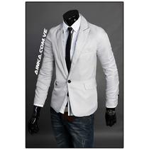 Blazer Fashion Slim Fit Fresh Light Gray Caballero Ainka