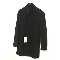Abrigo Negro Hombre Zara Original Nuevo