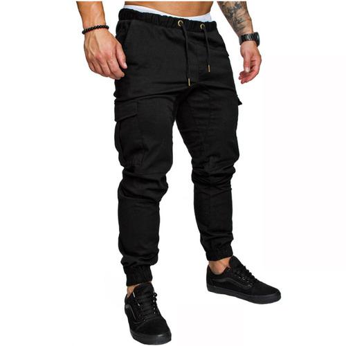 hombre deportivo joggers hip hop jogging pantalón de fitness