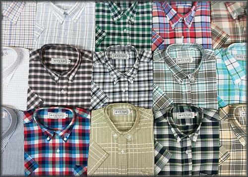 hombre manga camisa