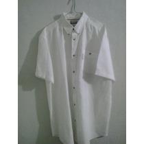 Camisa Columbia Blanca Original Manga Corta Xl