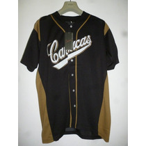 Camisa Negra- De Hombre- Leones Del Caracas- Modelo 1