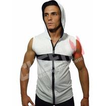 Chaleco Camiseta Cierre Deportivo Para Entrenar Gym Sport