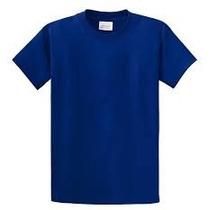 Franelas Azul Marino Algodon Peinado Ovejita
