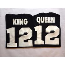 Franelas King / Queen Para Parejas Oferta