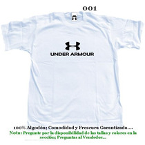 Franelas Underarmour Under Armour Mayor Y Detal 100% Algodon