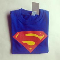Franelas Camisetas Superman Niño Y Adulto Estampado Serigraf