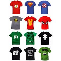 Franelas De Super Héroes, Superman, Walking Dead Y Más