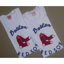 Franelas De Medias Rojas De Boston / Beisbol / Mlb