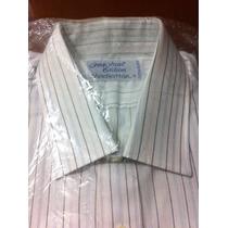 Camisa De Vestir Marca Manhattan Talla L (talla 16 1/2 - 32)