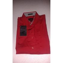 Camisa Estivaneli Caballeros / Roja Mm Fitted