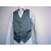 Chaleco De Vestir Para Caballeros En Gambardina - Gris -