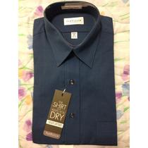 Camisa Van Heusen Quick Dry Manga Larga Azul