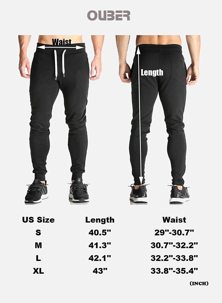 Pantalones De Chándal Ajustados De Ouber Para Hombre Pant ... 7946bb59bded