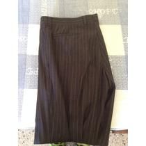 Pantalón De Vestir Talla 36 Negro De Rayas