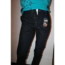 Pantalon Negro Talla 28 30 32 34 36 38 Pantalon Pow Slim Fit