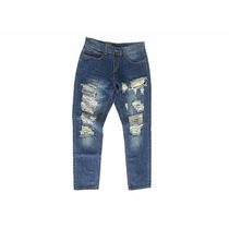Pantalon Polvo Jean Rasgado Ropa Hombre Moda Masculina Envio