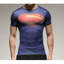 Polera Superman - Batman Vs Superman Compresión Under Armour