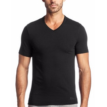 Polera Hugo Boss Color Blanco Negro 100% Algodón