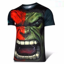 Poleras Spandex Marvel Superman Hulk Flash
