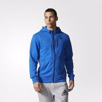 Poleron Con Capucha Hombre Adidas Essentials Original Nuevo