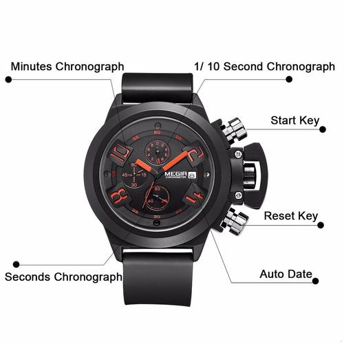 hombre pulso reloj deportivo