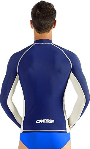 hombre rash guard para nadar, surfear, bucear con protecció