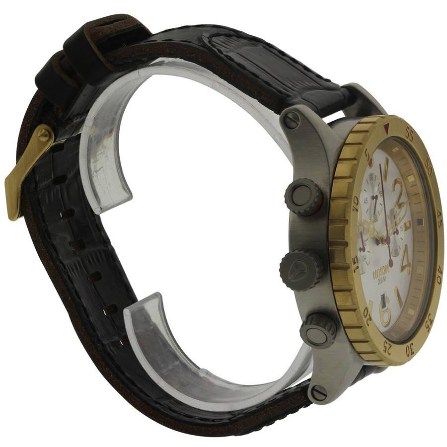 Nixon Cronógrafo De Cuero Para Hombre Reloj A3631884